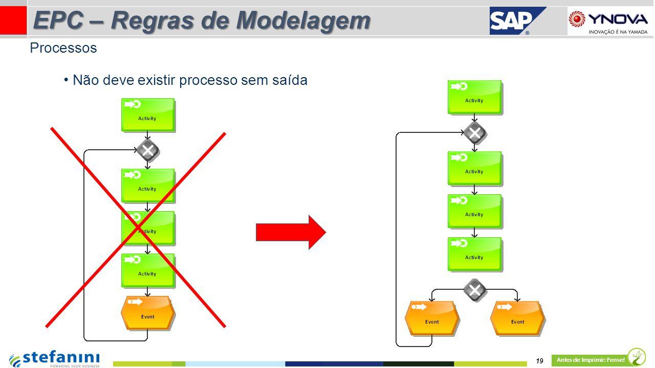 EPC – Regras de Modelagem