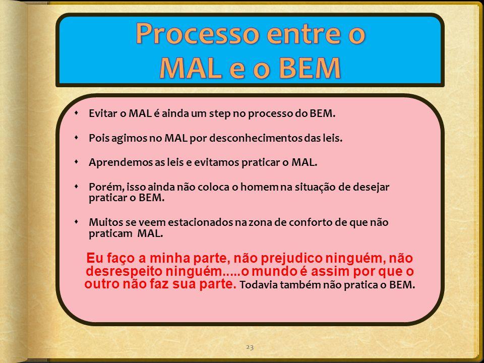 Processo entre o MAL e o BEM