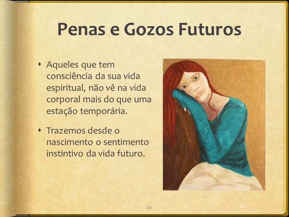Penas e Gozos Futuros Aqueles que tem consciência da sua vida espiritual, não vê na vida corporal mais do que uma estação temporária.