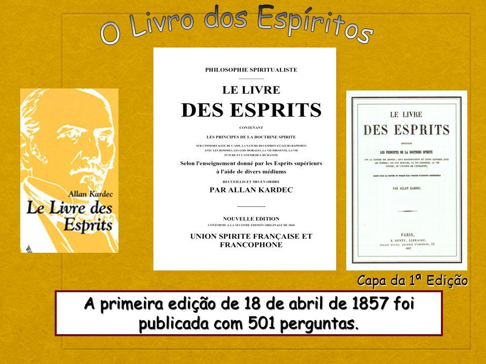 O Livro dos Espíritos Capa da 1ª Edição.