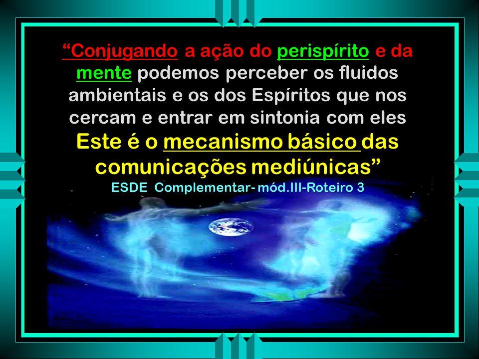 Este é o mecanismo básico das comunicações mediúnicas