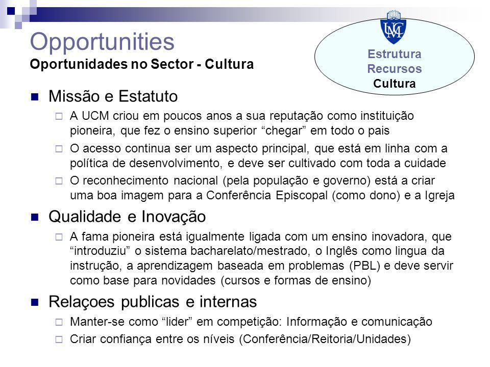 Opportunities Oportunidades no Sector - Cultura