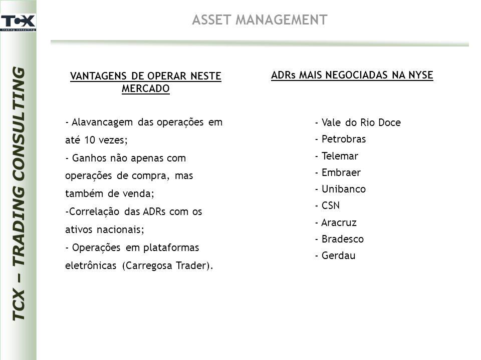 VANTAGENS DE OPERAR NESTE MERCADO TCX – TRADING CONSULTING