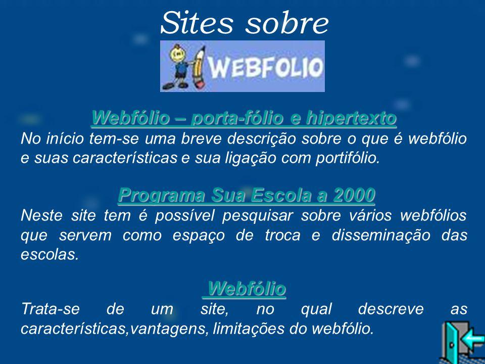 Webfólio – porta-fólio e hipertexto