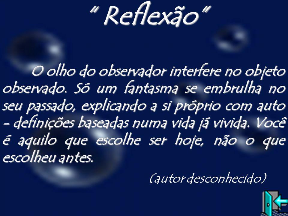 Reflexão (autor desconhecido)
