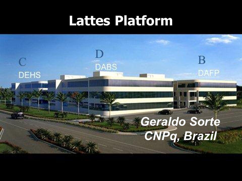 Lattes Platform Geraldo Sorte CNPq, Brazil