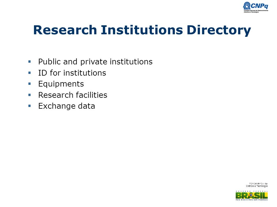 Research Institutions Directory
