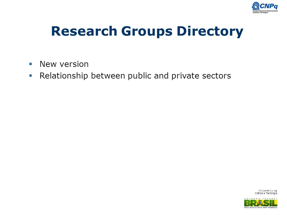 Research Groups Directory