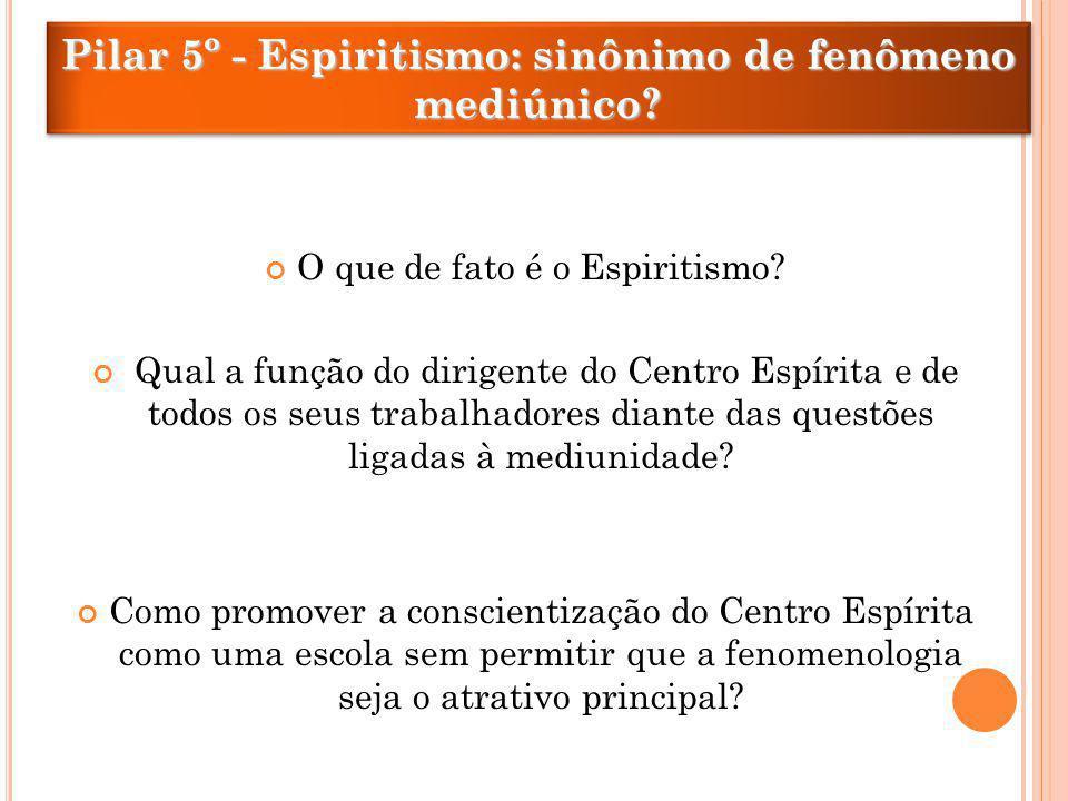 Pilar 5º - Espiritismo: sinônimo de fenômeno mediúnico