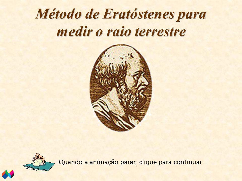 Método de Eratóstenes para medir o raio terrestre