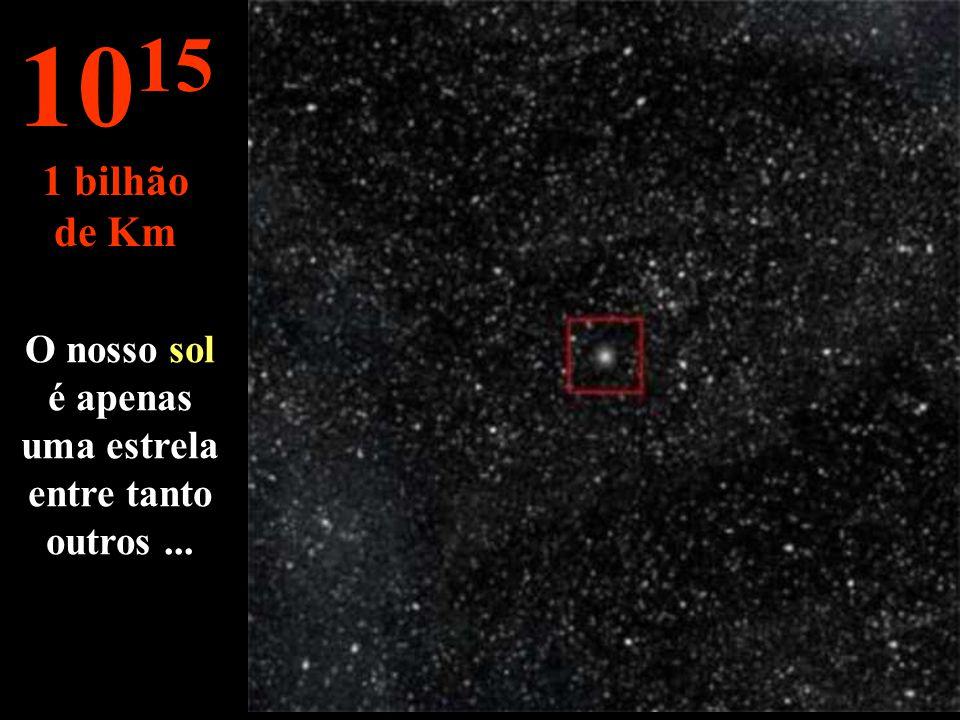 O nosso sol é apenas uma estrela entre tanto outros ...