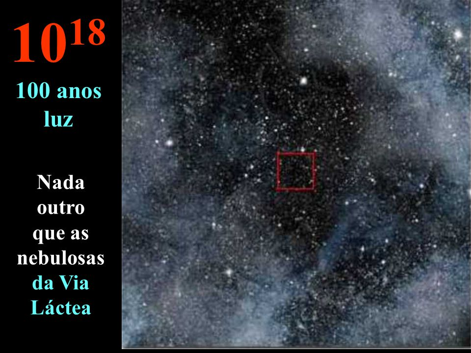 Nada outro que as nebulosas da Via Láctea