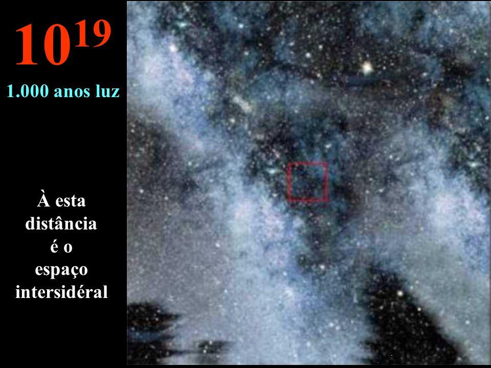 À esta distância é o espaço intersidéral