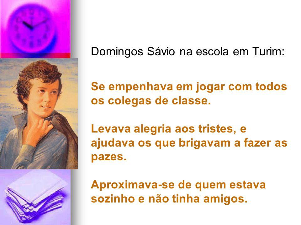 Domingos Sávio na escola em Turim: