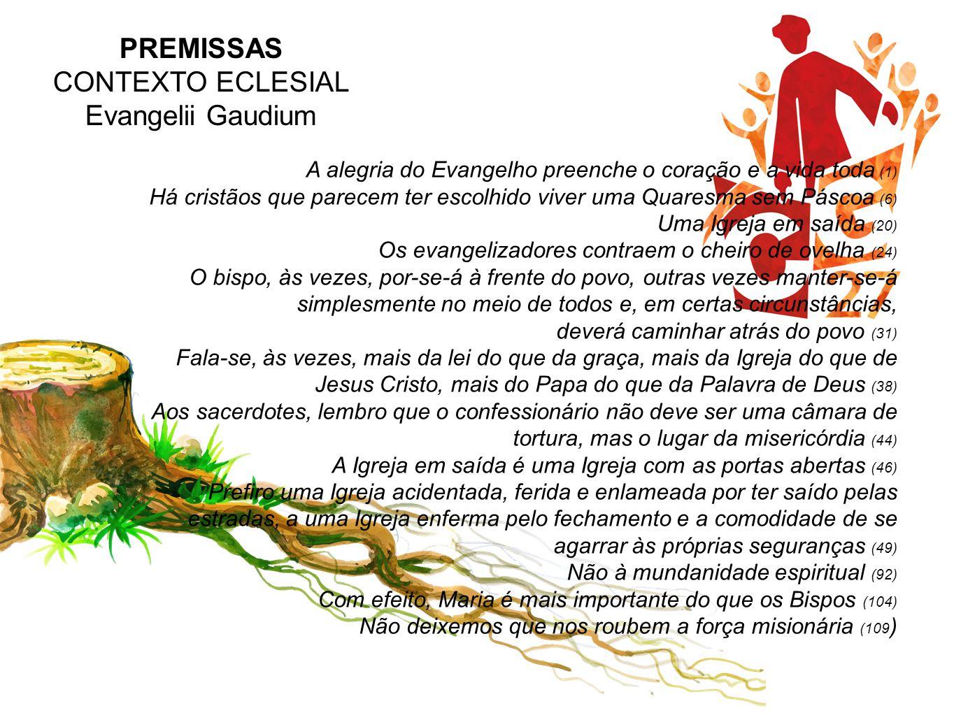 PREMISSAS CONTEXTO ECLESIAL Evangelii Gaudium