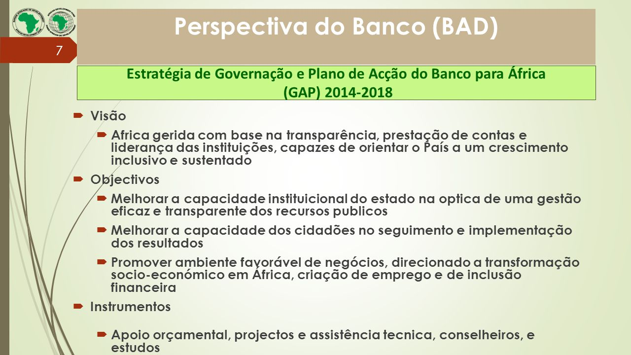 Perspectiva do Banco (BAD)