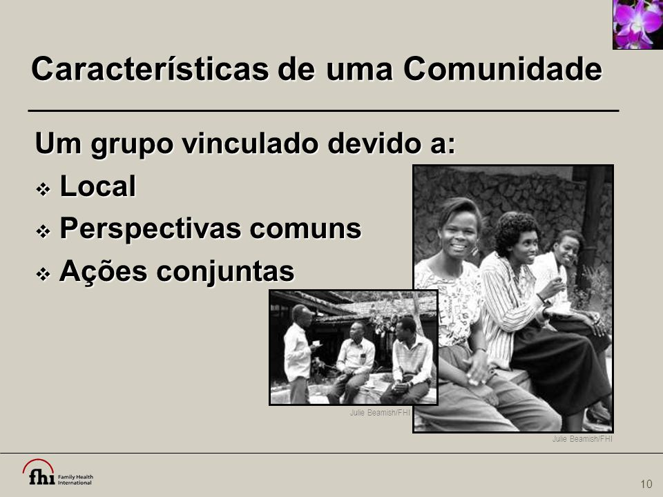 Características de uma Comunidade