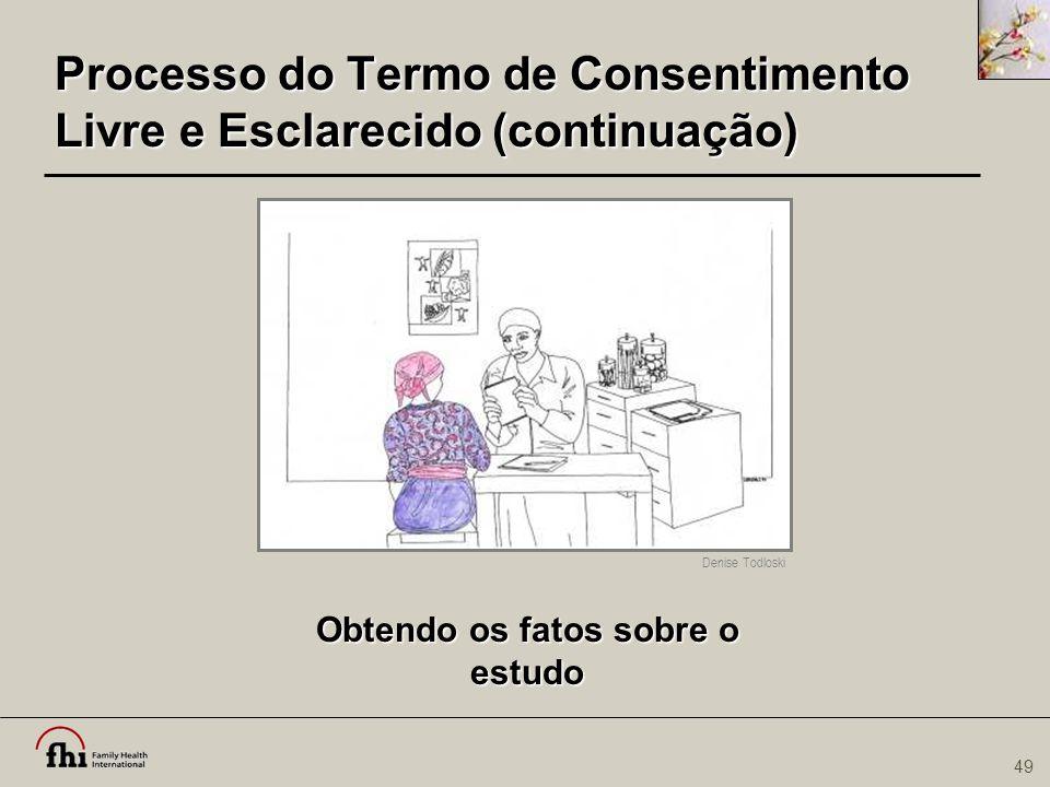 Processo do Termo de Consentimento Livre e Esclarecido (continuação)
