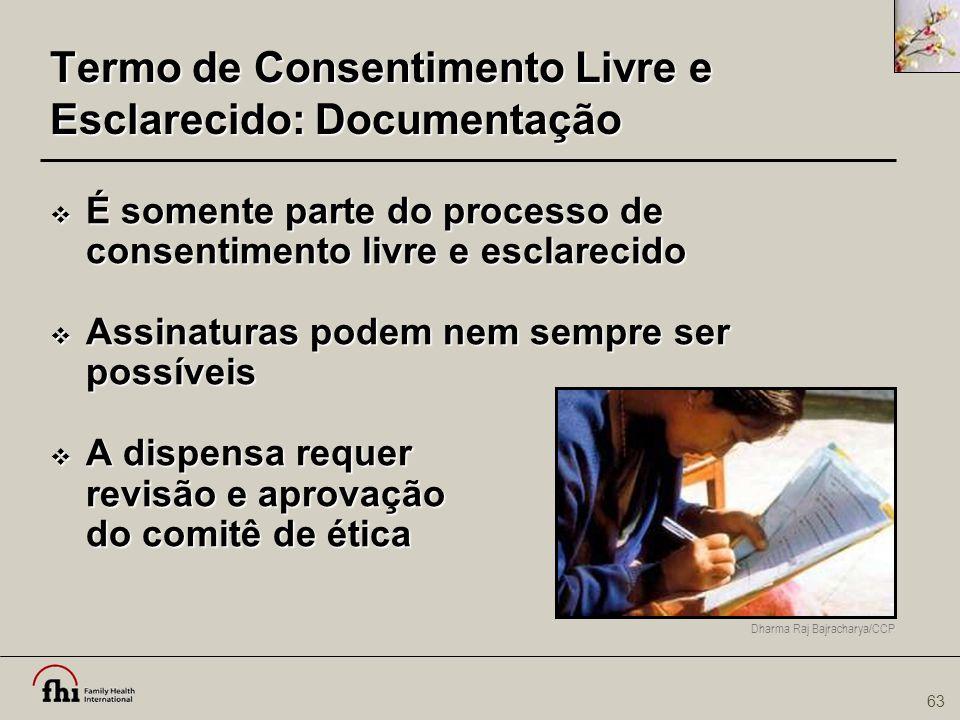 Termo de Consentimento Livre e Esclarecido: Documentação