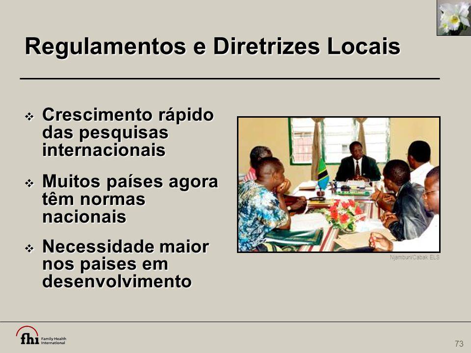 Regulamentos e Diretrizes Locais