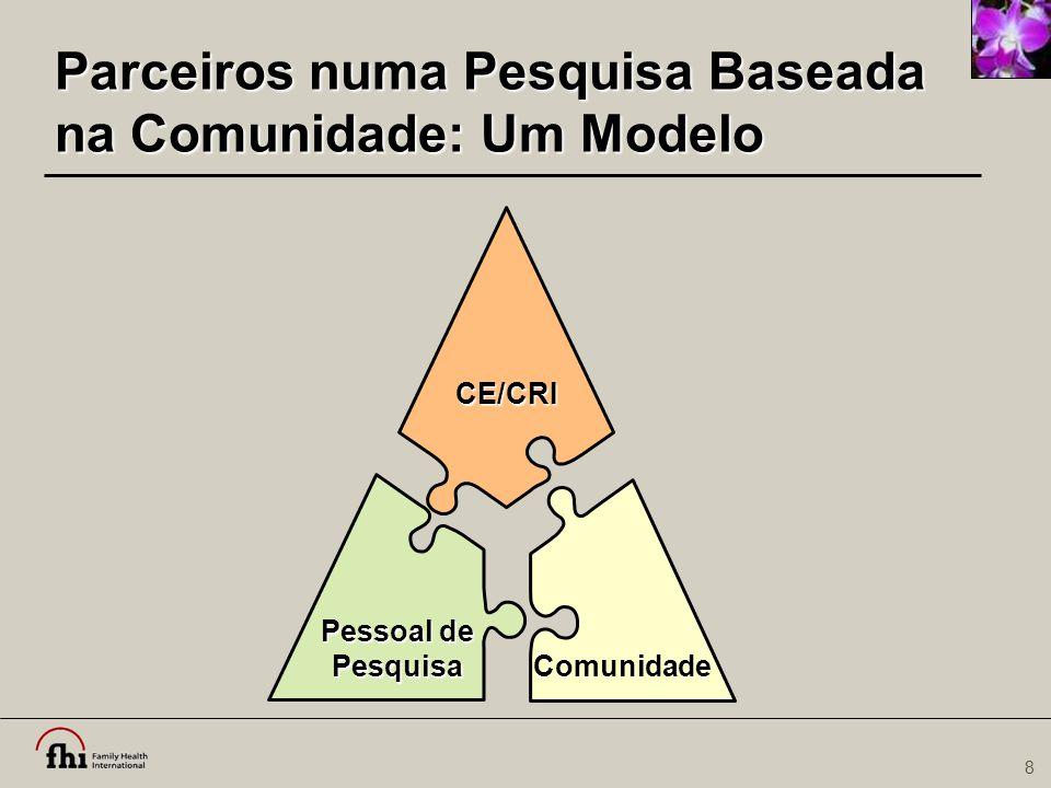Parceiros numa Pesquisa Baseada na Comunidade: Um Modelo