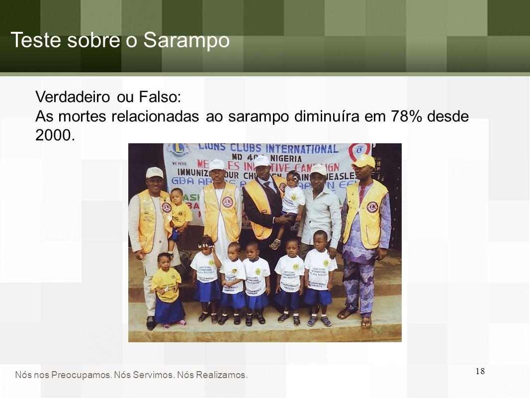 Teste sobre o Sarampo Verdadeiro ou Falso:
