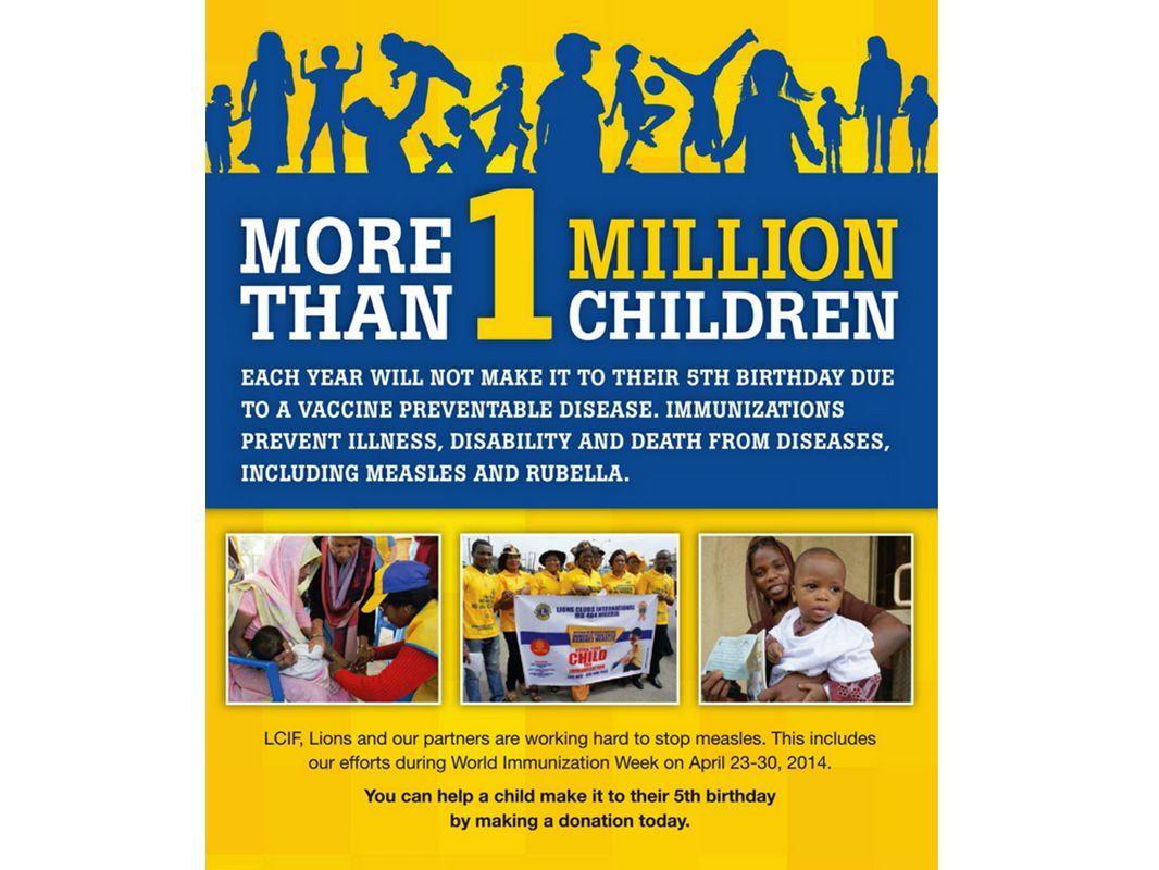Mais de um milhão de crianças não conseguirão comemorar 5 anos de idade devido a uma doença que pode ser prevenida por uma vacina.