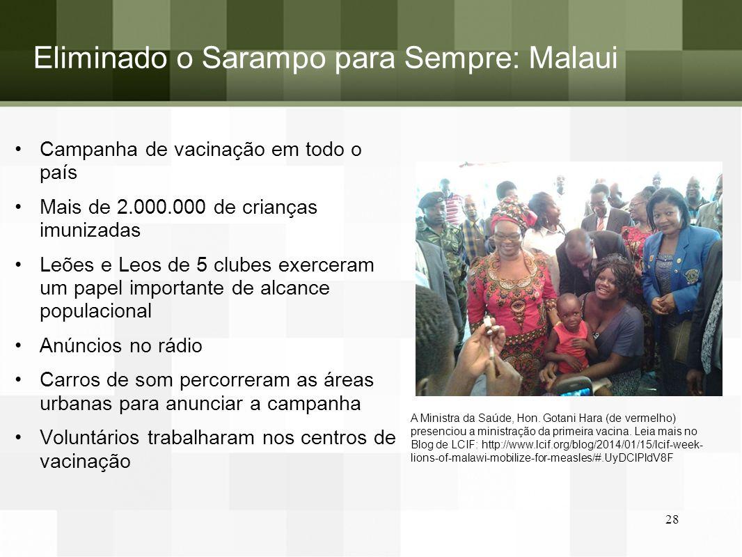 Eliminado o Sarampo para Sempre: Malaui