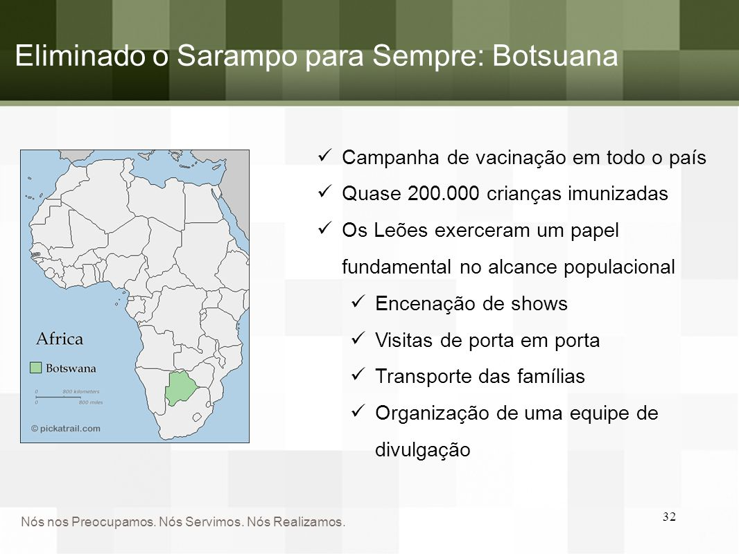 Eliminado o Sarampo para Sempre: Botsuana