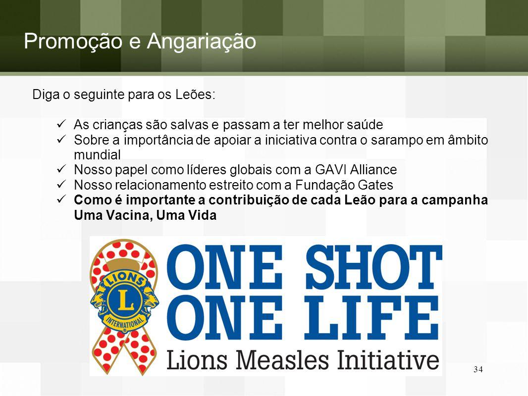 Promoção e Angariação Diga o seguinte para os Leões: