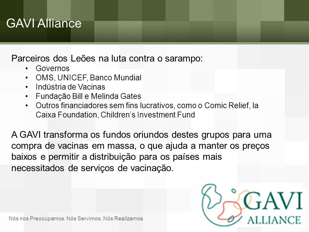 GAVI Alliance Parceiros dos Leões na luta contra o sarampo: