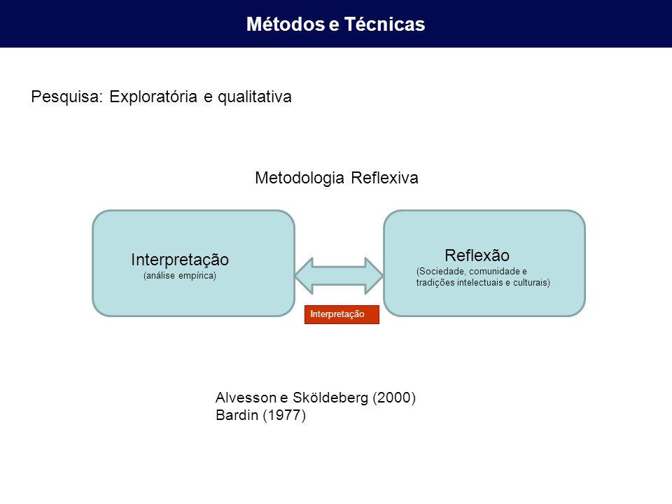 Métodos e Técnicas Pesquisa: Exploratória e qualitativa