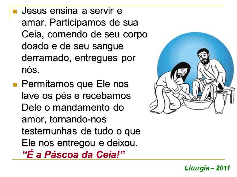 Jesus ensina a servir e amar