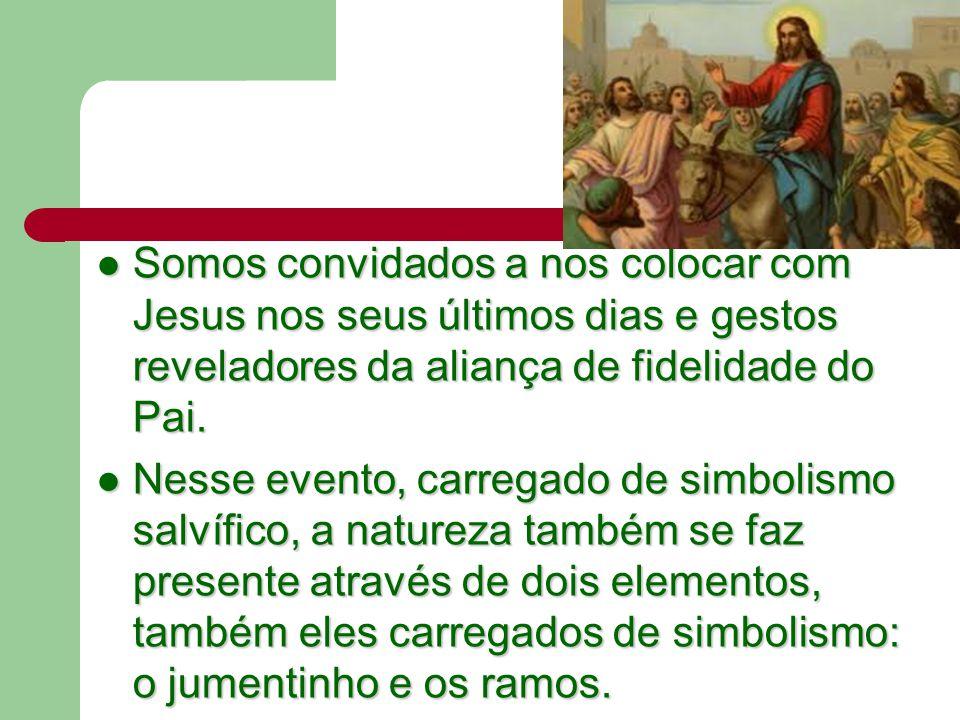 Somos convidados a nos colocar com Jesus nos seus últimos dias e gestos reveladores da aliança de fidelidade do Pai.