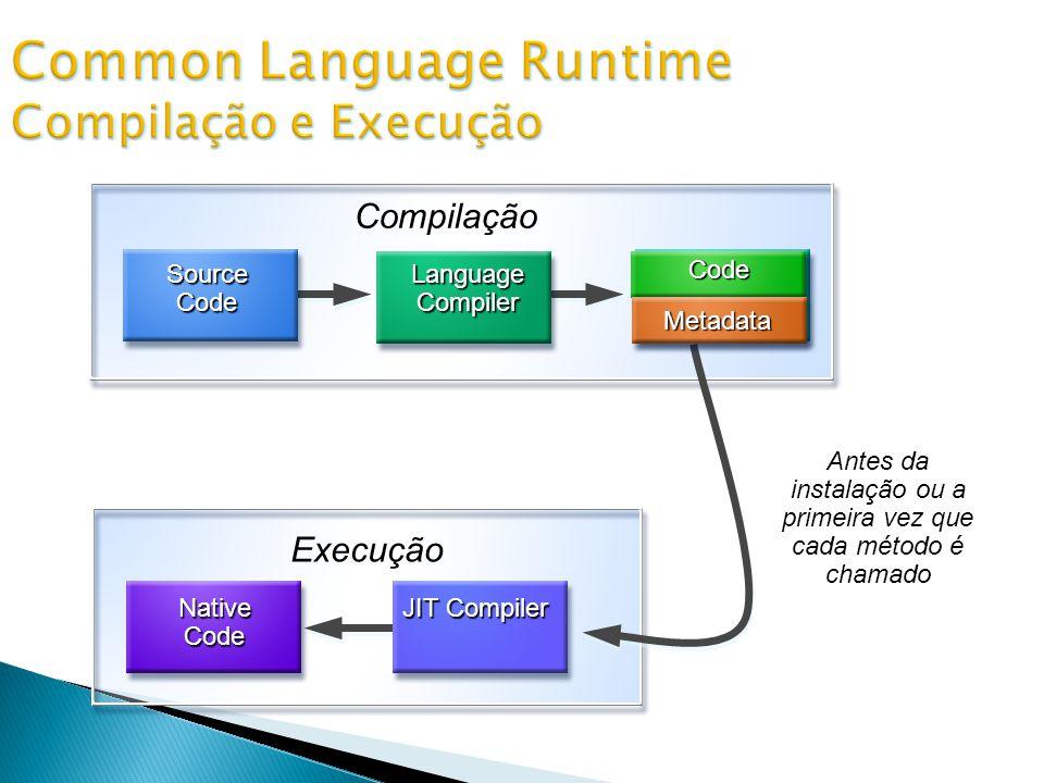 Common Language Runtime Compilação e Execução