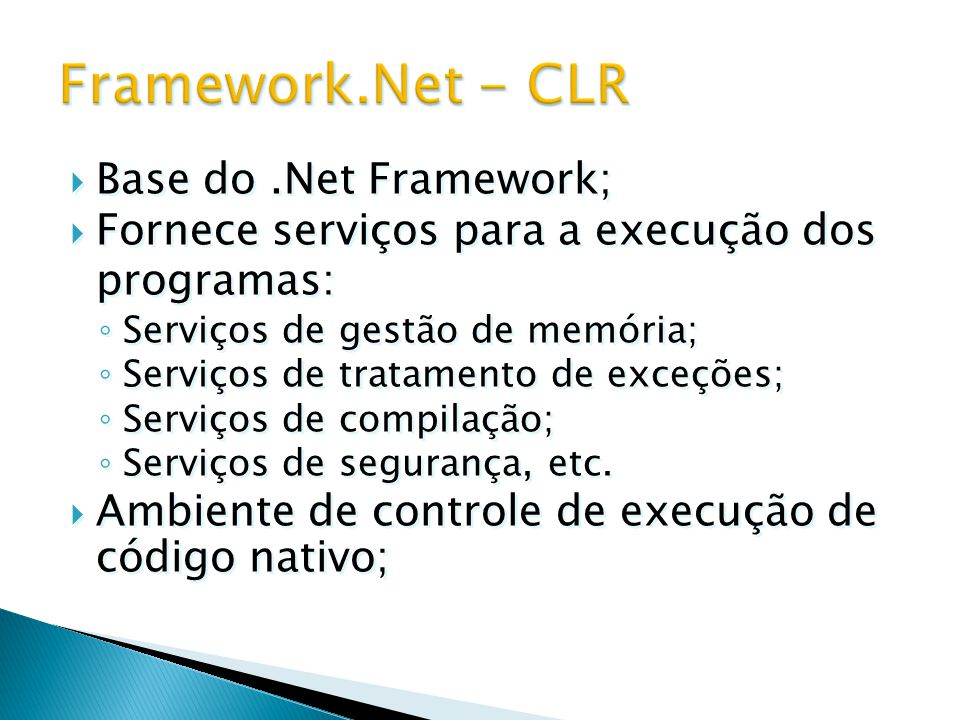 Framework.Net - CLR Base do .Net Framework;