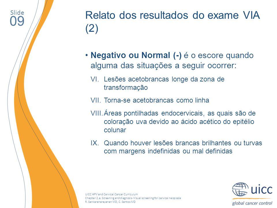 09 Relato dos resultados do exame VIA (2)