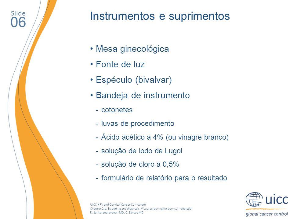 06 Instrumentos e suprimentos Mesa ginecológica Fonte de luz