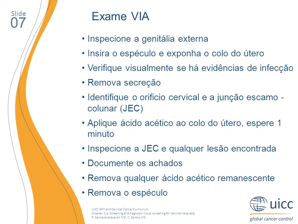 07 Exame VIA Inspecione a genitália externa