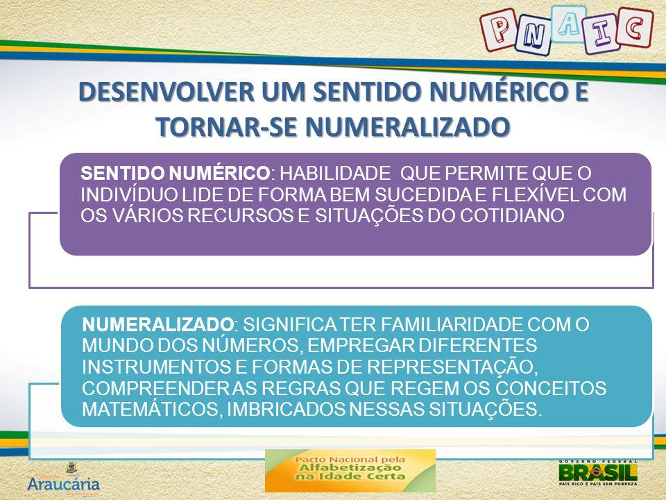 DESENVOLVER UM SENTIDO NUMÉRICO E TORNAR-SE NUMERALIZADO