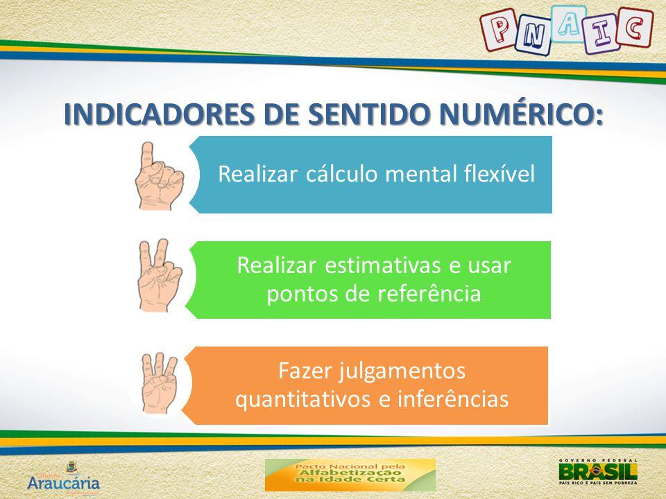 INDICADORES DE SENTIDO NUMÉRICO: