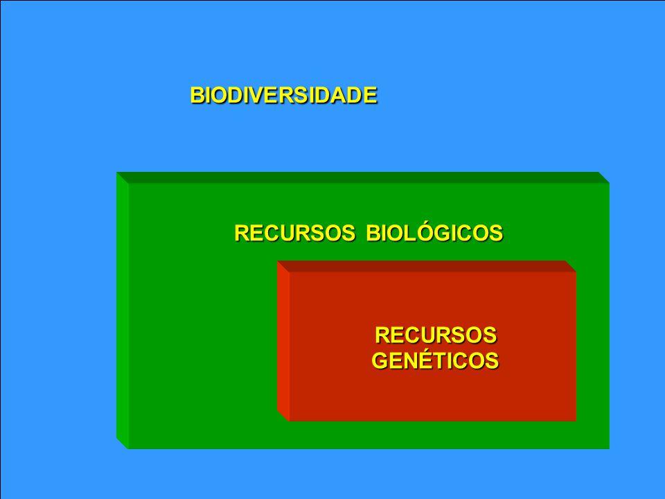 BIODIVERSIDADE RECURSOS BIOLÓGICOS RECURSOS GENÉTICOS