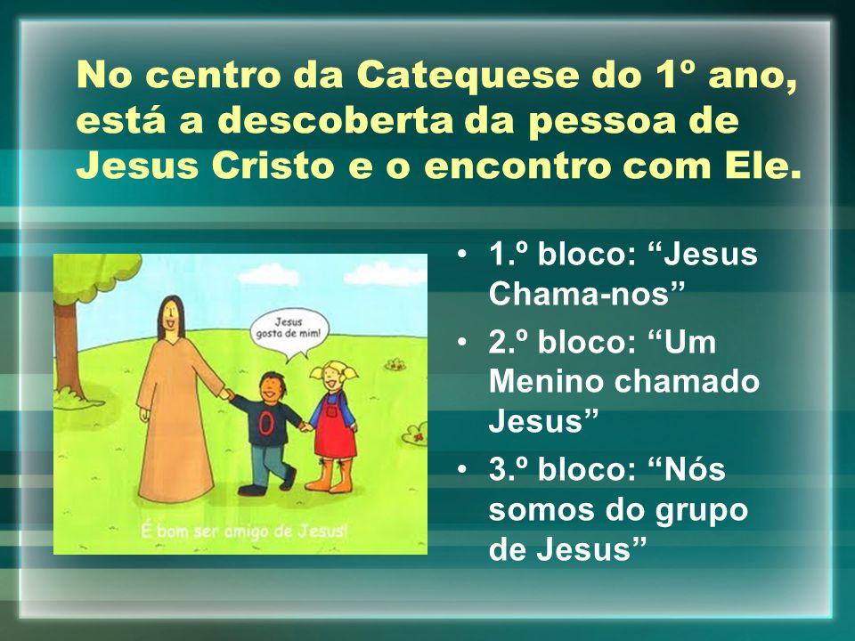 No centro da Catequese do 1º ano, está a descoberta da pessoa de Jesus Cristo e o encontro com Ele.