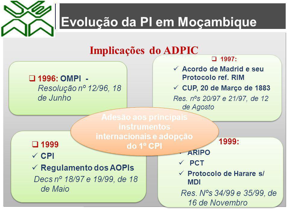 Adesão aos principais instrumentos internacionais e adopção do 1º CPI