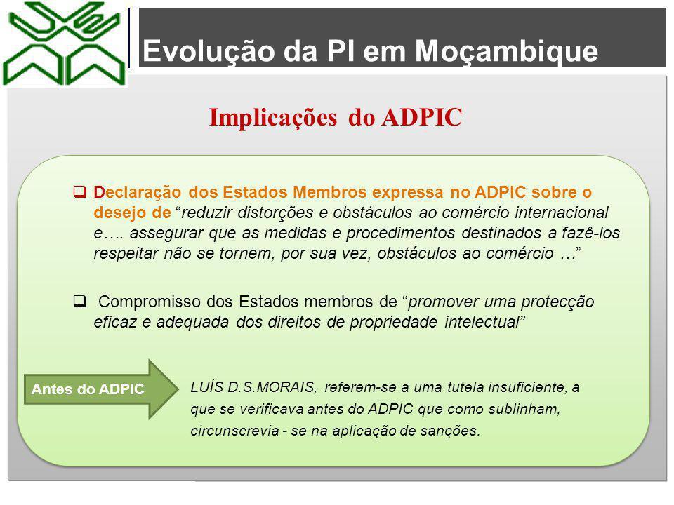 Evolução da PI em Moçambique