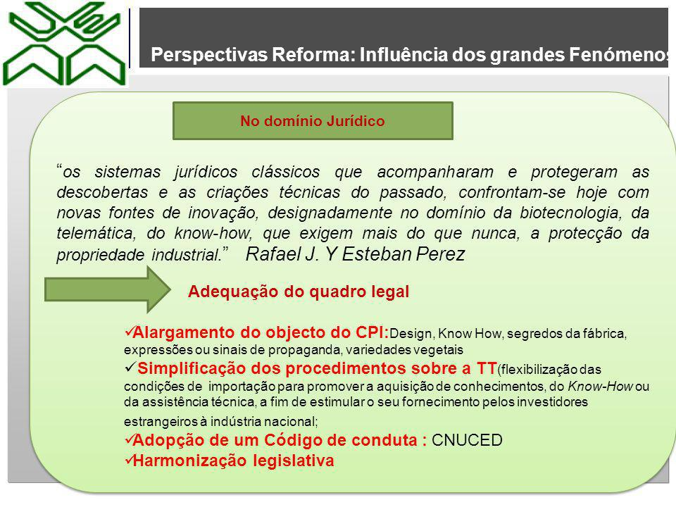 Perspectivas Reforma: Influência dos grandes Fenómenos