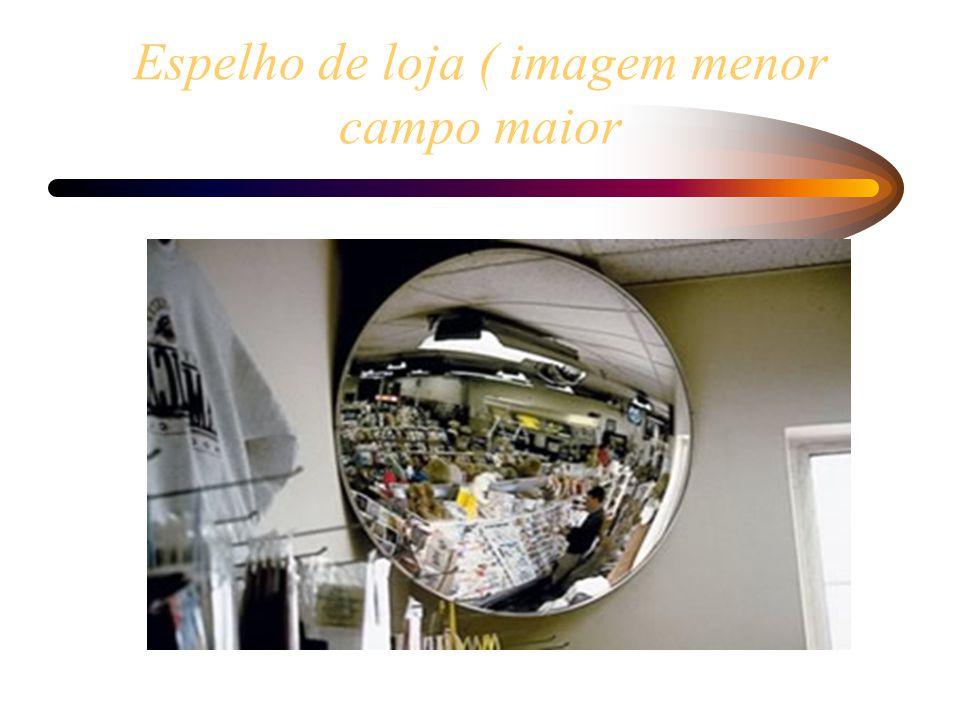 Espelho de loja ( imagem menor campo maior