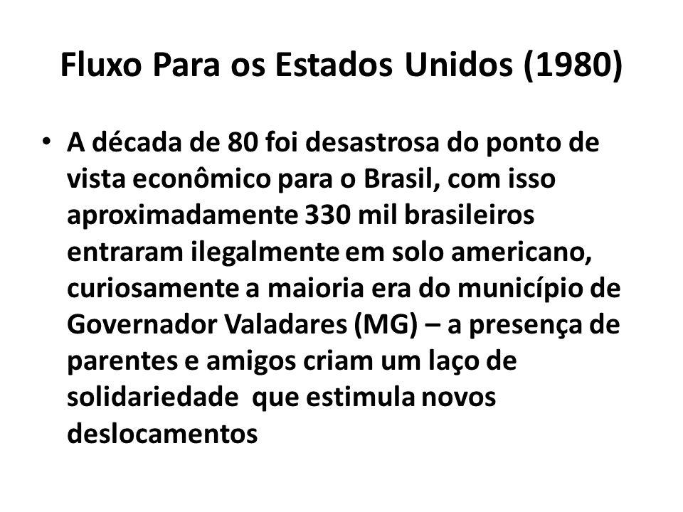 Fluxo Para os Estados Unidos (1980)