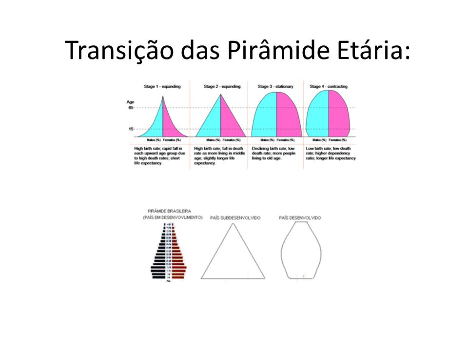 Transição das Pirâmide Etária: