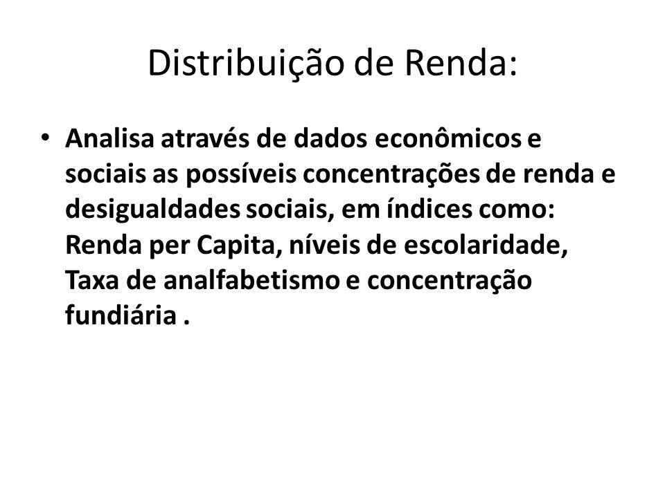 Distribuição de Renda:
